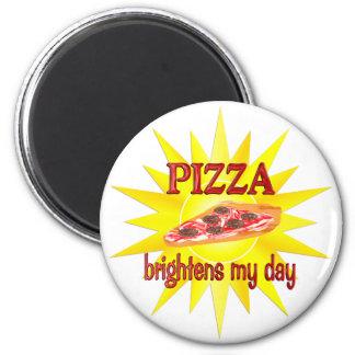 Pizza Brightens Refrigerator Magnets