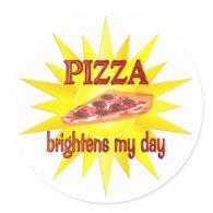 Pizza Brightens Sticker