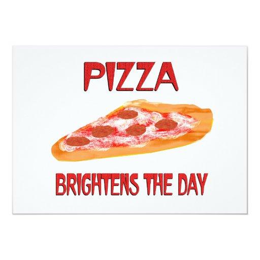 Pizza Brightens the Day 5x7 Paper Invitation Card