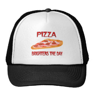 Pizza Brightens the Day Mesh Hats