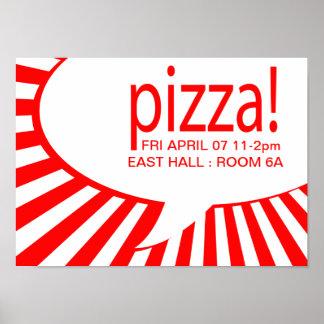 ¡pizza! : burbuja cómica del discurso póster