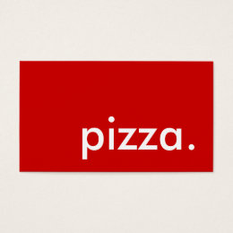 pizza. business card
