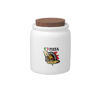 PIZZA CANDY JARS