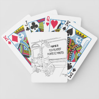 Pizza Cartoon 9338 Bicycle Playing Cards
