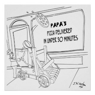 Pizza Cartoon 9338 Poster