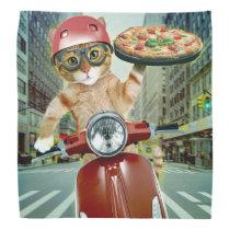 pizza cat - cat - pizza delivery bandana