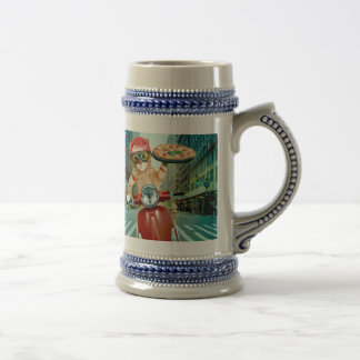 pizza cat - cat - pizza delivery beer stein
