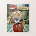 """pizza cat - cat - pizza delivery jigsaw puzzle<br><div class=""""desc"""">pizza , pet , kittens , """"tabby cat """", """"cute cats"""" , """"funny cats"""", """"cat pizza"""" , """"cat delivery """", """"delivery cat"""" , delivery , </div>"""