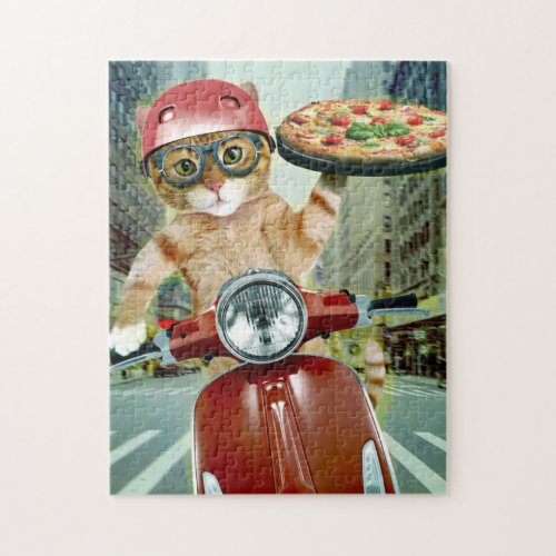 pizza cat _ cat _ pizza delivery jigsaw puzzle