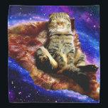 "pizza cat - crazy cat - cats in space bandana<br><div class=""desc"">pet , pizza , cat , kittens , &quot;cute cats&quot; , &quot;funny cats &quot;, &quot;space cat&quot; , &quot;cat space&quot; , &quot;cat pizza&quot; , &quot;cat kitten&quot; , </div>"