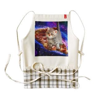 pizza cat - cute cats - kitty - kittens zazzle HEART apron