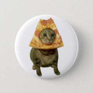 Pizza Cat Design Pinback Button