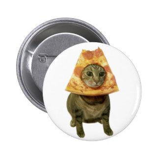 Pizza Cat Design Pinback Button