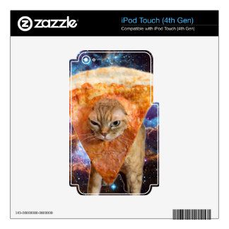 Pizza Cat in Space Wearing Pizza Slice iPod Touch 4G Decal