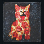 "pizza cat - kitty - pussycat bandana<br><div class=""desc"">pet , cat , kittens , &quot;cute cats &quot;, &quot;tabby cat &quot;, &quot; kitty cat &quot;, &quot;space cat&quot; , &quot;cat space&quot; , &quot;cat pizza&quot; , &quot;cats in space&quot; , </div>"