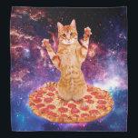 "pizza cat - orange cat - space cat bandana<br><div class=""desc"">pet , pizza , cat , kittens , &quot;cute cats &quot;, &quot;tabby cat&quot; , kitty , &quot;cat space &quot;, &quot;cat pizza&quot; , &quot;cats in space&quot; , </div>"