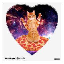 pizza cat - orange cat - space cat wall sticker