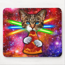 Pizza cat - space cat - cute cats - crazy cat mouse pad