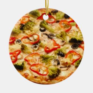 Pizza Ceramic Ornament