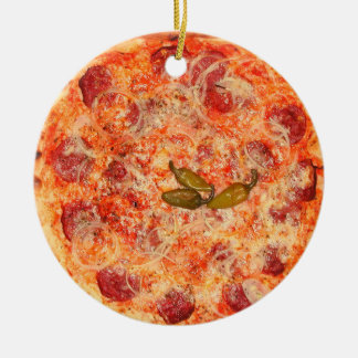 Pizza Ceramic Ornament