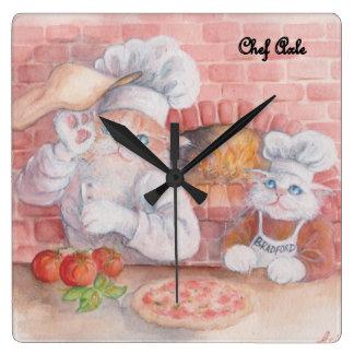 Pizza Chef Axle Wall Clock