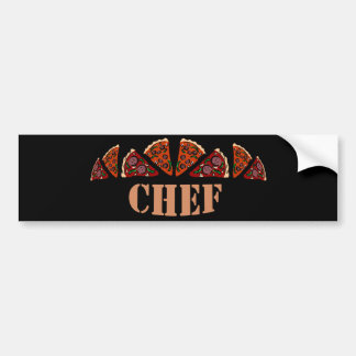 Pizza Chef Bumper Sticker