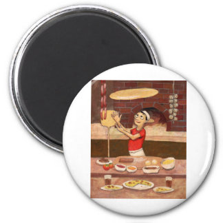 Pizza Chef (JOH-007) 2 Inch Round Magnet