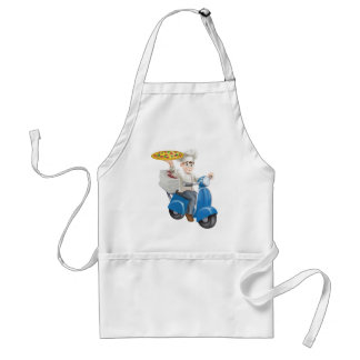 Pizza chef moped delivery aprons