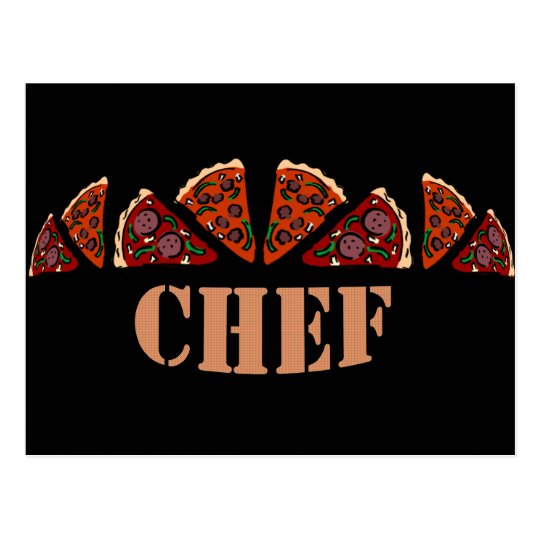 Pizza Chef Postcard