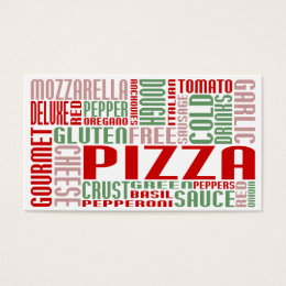 pizza (chit chat) business card