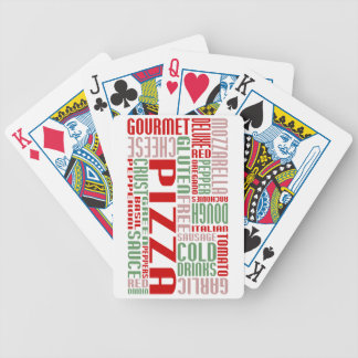 pizza chitChat Bicycle Playing Cards