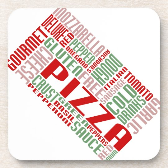 pizza chitChat Drink Coaster