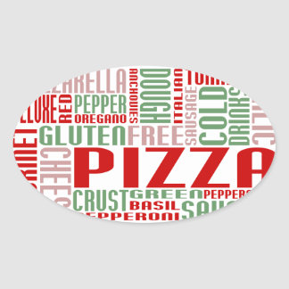 pizza chitChat Oval Sticker