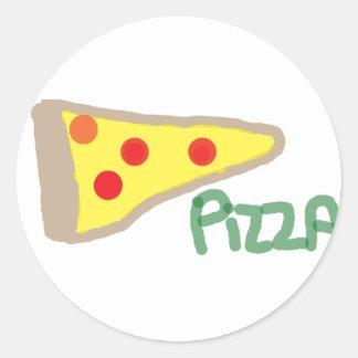 Pizza Classic Round Sticker