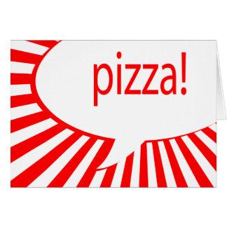 pizza! : comic speech bubble card