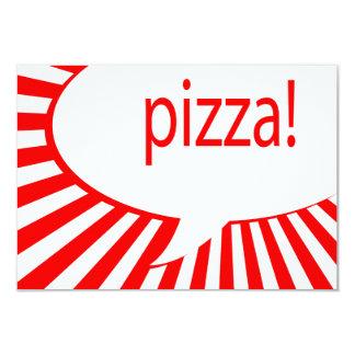 pizza! : comic talking bubble card