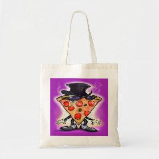 Pizza con clase bolsa tela barata