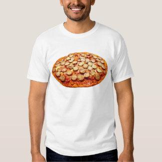 Pizza con la camiseta de los salchichones y de los playera