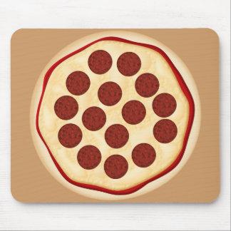 Pizza con los salchichones alfombrillas de raton