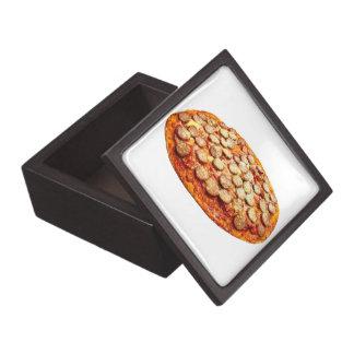 Pizza con los salchichones y la salchicha cajas de regalo de calidad