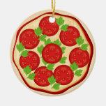 Pizza con los tomates ornato