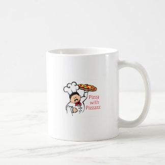 PIZZA CON PIZZAZZ TAZAS DE CAFÉ