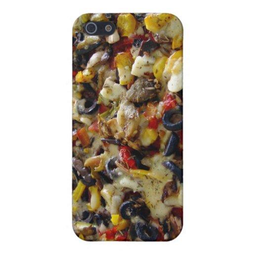 Pizza, con queso Feta, aceitunas, pimiento iPhone 5 Carcasa