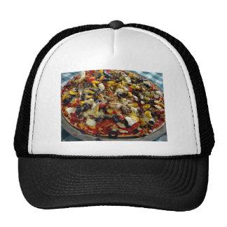Pizza, con queso Feta, aceitunas, pimiento Gorra
