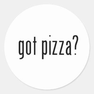 ¿pizza conseguida? pegatinas redondas