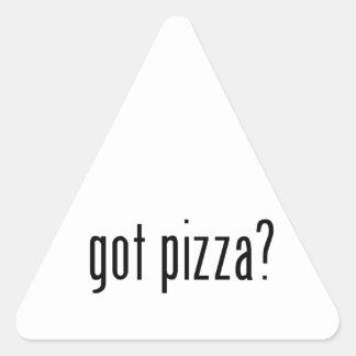 ¿pizza conseguida? calcomanía triangulo