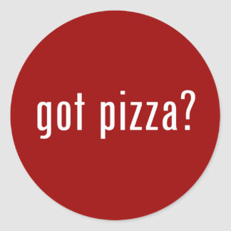 ¿pizza conseguida? pegatina redonda