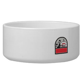 Pizza Cook Peel Wood Fired Oven Crest Retro Bowl
