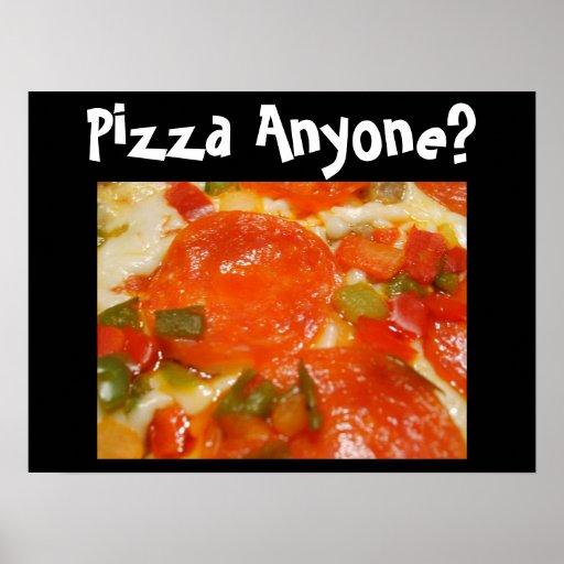 ¿Pizza cualquier persona? Póster