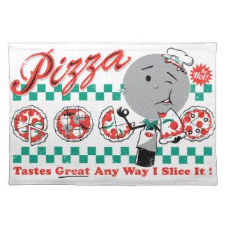 Pizza cualquier rebanada de la manera I él Placema Mantel